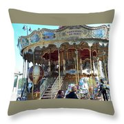 Carrousel De Paris Throw Pillow