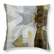 Carrying Shoolchildren Throw Pillow