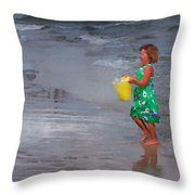 Carrying Water Throw Pillow