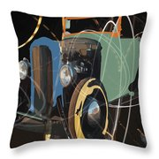 Cars And Stars Throw Pillow