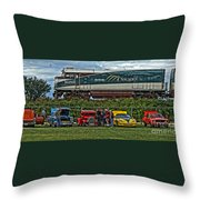 Cars And Trains Throw Pillow