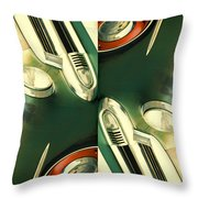 Carschach011 Throw Pillow by Tony Grider