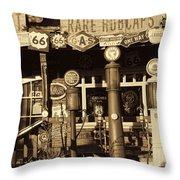 Carsland Route 66 Throw Pillow