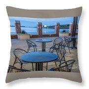 Carson Beach Cafe Throw Pillow