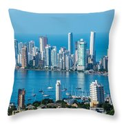 Cartagena Skyscapers Throw Pillow