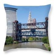 Carter Road Lift Bridge Throw Pillow
