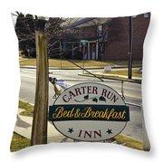 Carter Run Inn 1 Throw Pillow