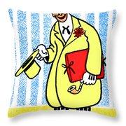 Cartoon 04 Throw Pillow by Svetlana Sewell