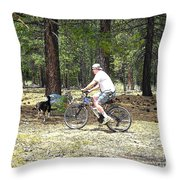 Cartoon Collection No 46 Life With A Border Collie In Usa Throw Pillow