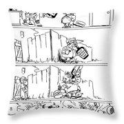 Cartoon: League Of Nations Throw Pillow