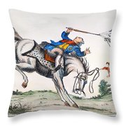 Cartoon: Outcome, 1779 Throw Pillow