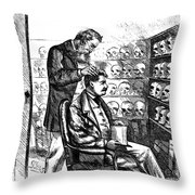 Cartoon: Phrenology, 1865 Throw Pillow