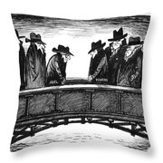 Powers Trade, 1962 Throw Pillow