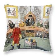 Cartoon: Surgeons, 1811 Throw Pillow