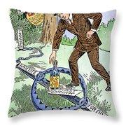 Cartoon: Temperance, C1915 Throw Pillow