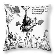 Cartoon: World War II Throw Pillow