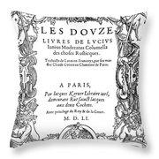 Cartouche, 1551 Throw Pillow