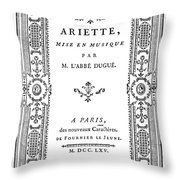 Cartouche, 1765 Throw Pillow