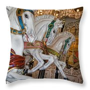 Caruosel Horses Throw Pillow