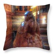 Carved Bird  Throw Pillow