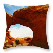 Carved By The Winds Of Time Throw Pillow