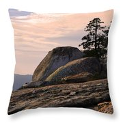 Carved Granite Throw Pillow