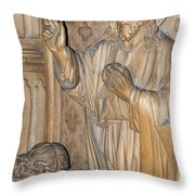 Carved In Wood Throw Pillow
