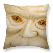 Carved Pumpkin Face Throw Pillow
