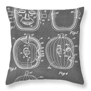 Carved Pumpkin Patent Throw Pillow