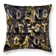 Carved Tombstone Throw Pillow