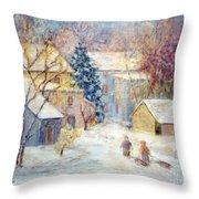 Carversville Snow Throw Pillow