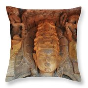 Statue At The Temple Of The 64 Yoginis - Jabalpur India Throw Pillow