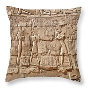 Carvings At The Temple Of Karnak Throw Pillow