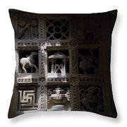 Carvings Of Jainism Throw Pillow