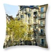 Casa Batllo - Barcelona Spain Throw Pillow