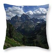 Cascade Canyon North Fork Throw Pillow