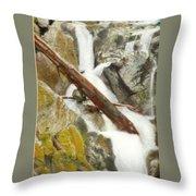 Cascade Creek Falls Throw Pillow