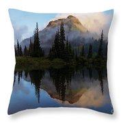 Cascade Mirror Throw Pillow by Mike  Dawson