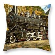 Cascade Mountain Train Throw Pillow