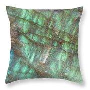 Cascade Of Green Throw Pillow