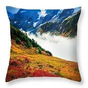 Cascade Pass Peaks Throw Pillow