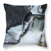 Cascades At Kent Falls Throw Pillow