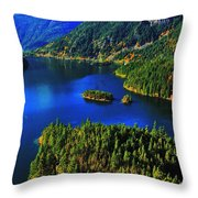 Cascades Lake Throw Pillow