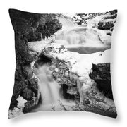 Cascades Of Velvet Throw Pillow by Luke Moore