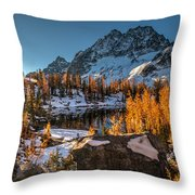 Cascades Ring Of Larches Throw Pillow by Mike Reid