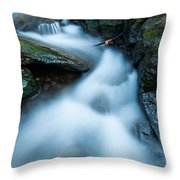 Cascades - Spruce Brook Twilight Throw Pillow