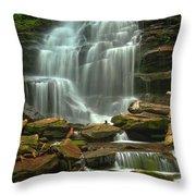 Cascading Through Ricketts Glen Throw Pillow