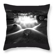 Cascading Waterfall Black And White Throw Pillow