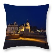 Cascais By Night - Portugal Throw Pillow
