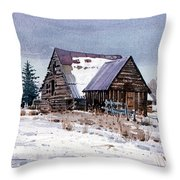 Cache Valley Barn Throw Pillow
